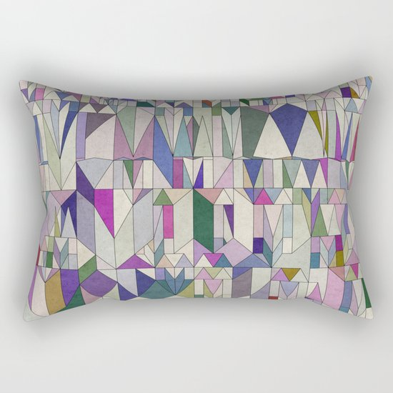 Architecture in Pink Rectangular Pillow