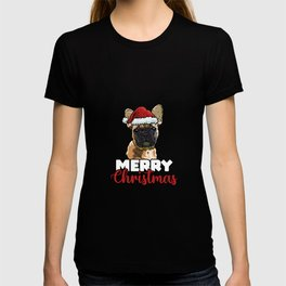 Merry Christmas French Bulldog Dog Lover Gift T-shirt