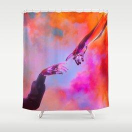 La Création d'Adam - Dorian Legret x AEFORIA Shower Curtain