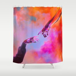 La Création d'Adam - Dorian Legret x AEFORIA Shower Curtain