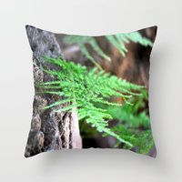 fern Throw Pillows featuring fern by  Agostino Lo Coco
