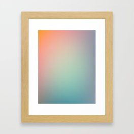 SUNDAY / Plain Soft Mood Color Blends / iPhone Case Framed Art Print