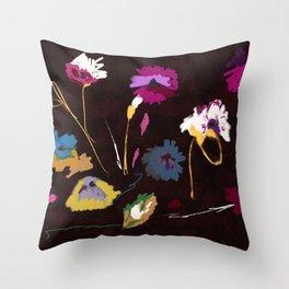 Sparse Flowers #original painting Throw Pillow