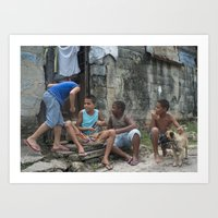 Boys Sharing the Spoils, Havana Art Print