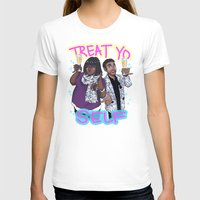 treat yo self T-shirts featuring Treat Yo Self by enerjax