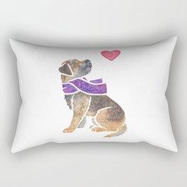 Watercolour Border Terrier Rectangular Pillow
