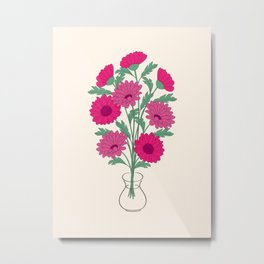 bouquet of dahlias in the vase Metal Print