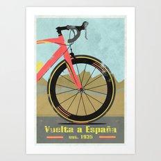 Vuelta a Espana Bike Art Print