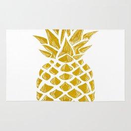 Gold Pineapple Rug