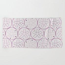 Sanddollar Pattern in Purple Beach Towel
