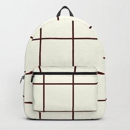 Chocolate and Cream, Ummy Window Panes Backpack