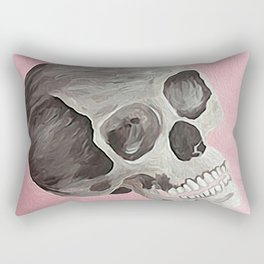 happy skull Rectangular Pillow