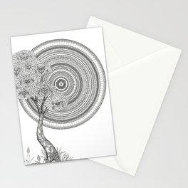 Sunrise Mandala with Tree Stationery Cards