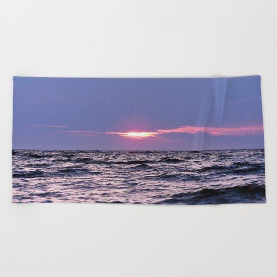 Water level Sunset Beach Towel