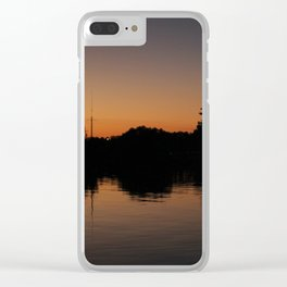 Reflection On The River Clear iPhone Case