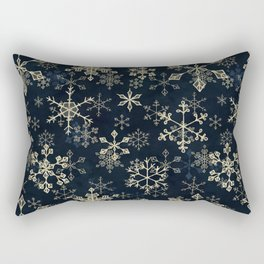 Snowflake Crystals in Gold Rectangular Pillow