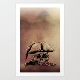Pirate Skull  Art Print