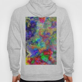 Abstract bright colorful watercolor brushstrokes pattern Hoody