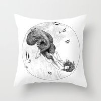apollonia Throw Pillows featuring asc 438 - L'attachement pathologique (The stalking) by From Apollonia with Love