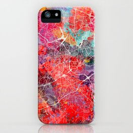 High Point map North Carolina painting 2 iPhone Case
