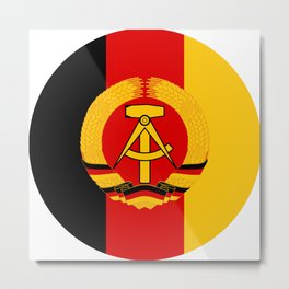 Emblem of East Germany National People's Army, 1956-1990 Metal Print