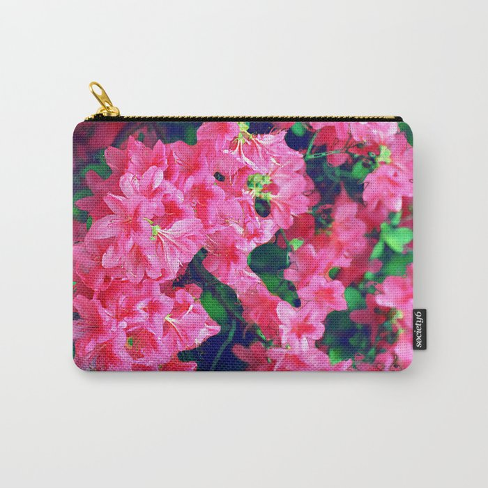 Pink azalea blooms. Carry-All Pouch