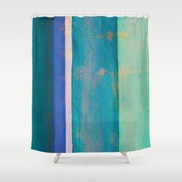 Column Abstract Shower Curtain