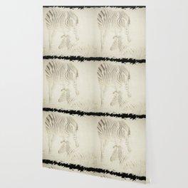 Zebra Love Wallpaper