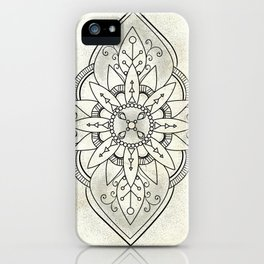 Rustic Neutral Mandala iPhone Case