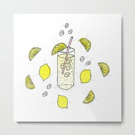 Lemon Lemon Lemon Metal Print