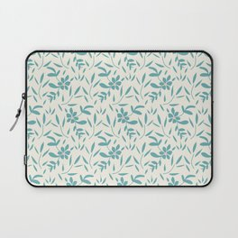 Cerulean leaf and floral coordinate Laptop Sleeve