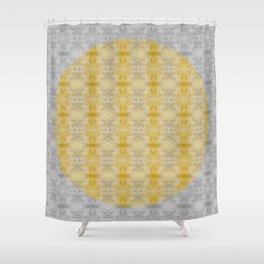 Gold & Silver Embellish Celeriac Pattern Shower Curtain
