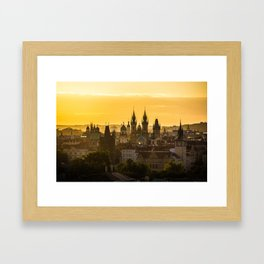 Prague Dawn Framed Art Print