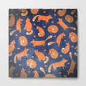 Foxes at Night - Cute Fox Pattern by cute4kids
