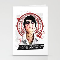 "silent hill Stationery Cards featuring Silent Hill - It's time to complete the ""21 Sacraments"" by Emme Gray"