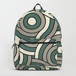 Circle Swirl Pattern Ever Classic Gray 32-24 Thistle Green 22-18 and Dover White 33-6 Backpack