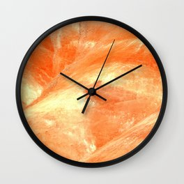 MACRO SHOT - PAINTED HILLS - EASTERN OREGON - JOHN DAY Wall Clock