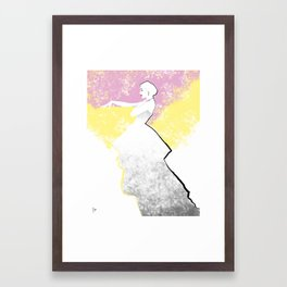 'Strawberry Lemonade' Fashion Illustration Framed Art Print