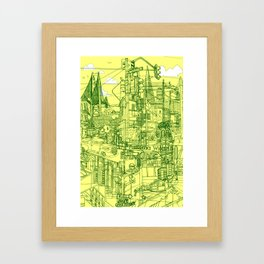 San Francisco! (Yellow) Framed Art Print