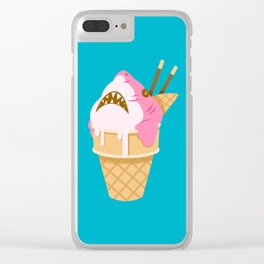Sharks and Icecream Clear iPhone Case