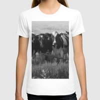 cows T-shirts featuring Cows by Julia Lake Art Designs