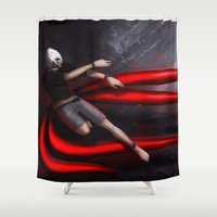 tokyo ghoul Shower Curtains featuring Tokyo Ghoul: Kaneki by Arnix