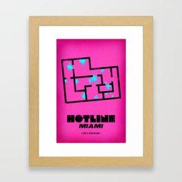Hotline Miami - Minimalist Design Framed Art Print