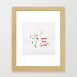 Robots Have Feelings Too Framed Art Print