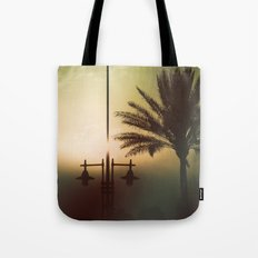 Mysterious sunset Tote Bag
