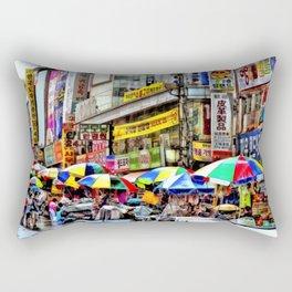 Korean Rain (Painted Version) Rectangular Pillow