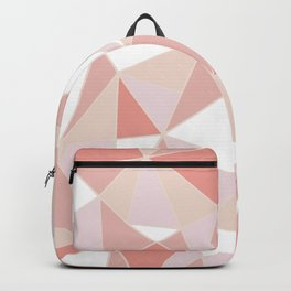Festive, Geometric Art, Coral and Pink, Triangles Pattern Backpack