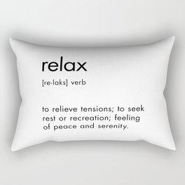Relax Definition Rectangular Pillow