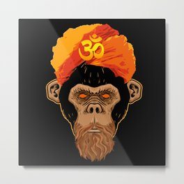 Stoned Monkey Metal Print