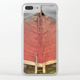 Red Boat at Rest Clear iPhone Case
